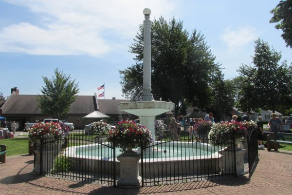 Central Park fountain in downtown Loudonville.