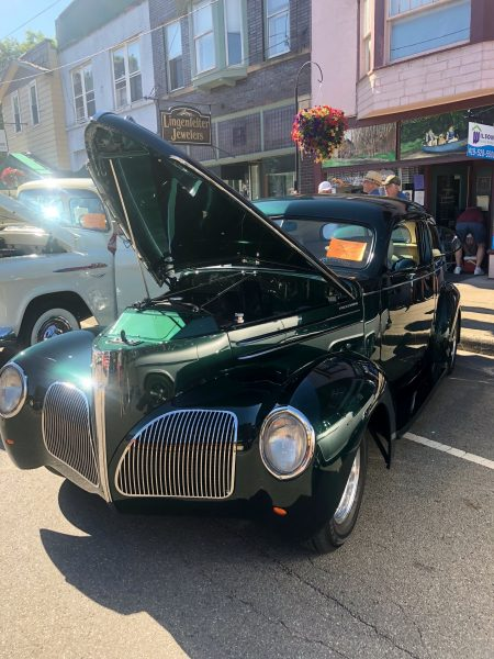 Classic car on show in downtown Loudonville