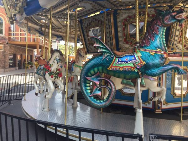 Hippocampus on a merry-go-round at the Loudonville Free Street Fair.