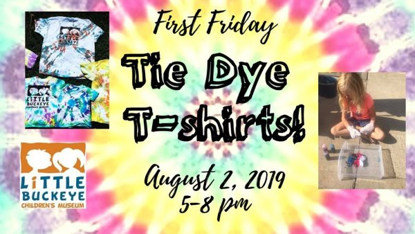 Tie dye promotion for event on August 2, 2019.