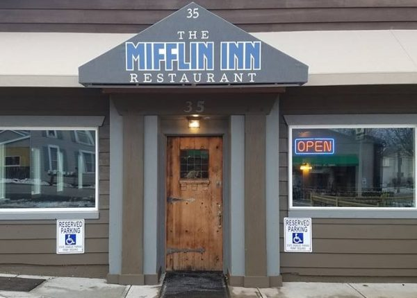 Front door of the Mifflin Inn Restaurant.