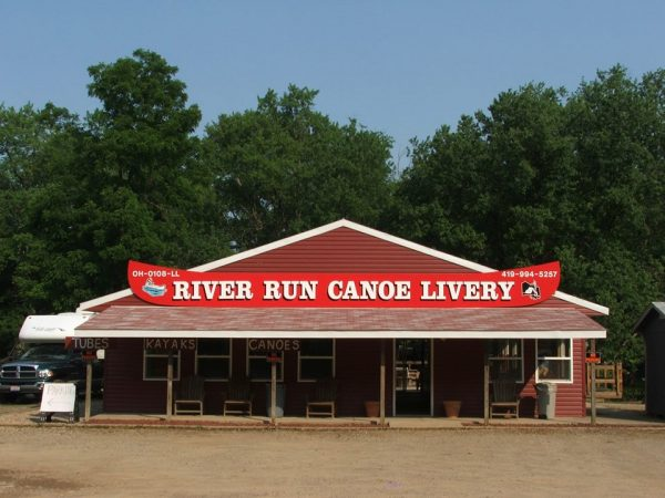 Front of River Run Canoe Livery building.