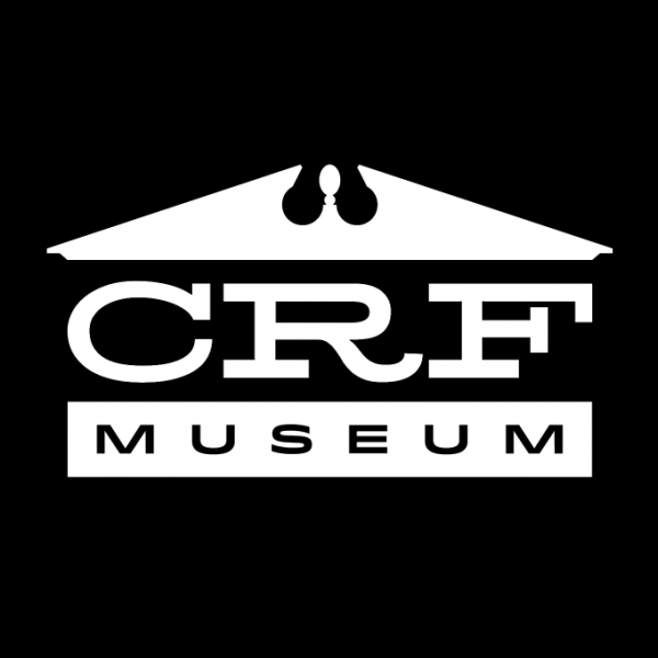 Logo for Cleo Redd Fisher Museum in black and white.